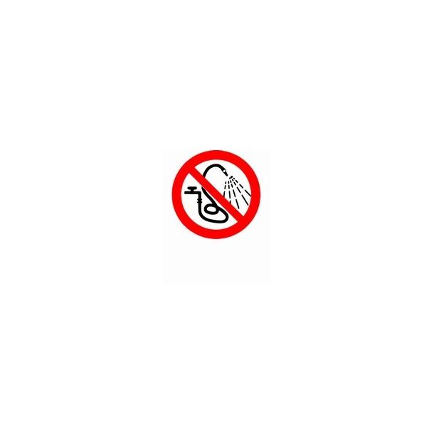 Forbudt at sprøjte med vand