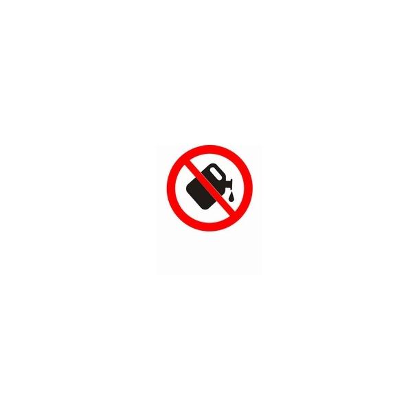 Benzin påfyldning forbudt